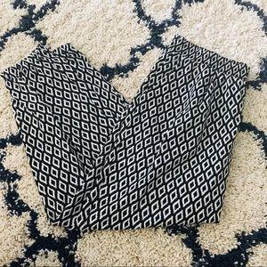 Xhilaration Black White Geometric Jogger Trousers